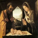 Lorenzo Costa (1459-1535)  Nativity  Tempera on wood  Mus&#233;e des Beaux-Arts, Lyon, France